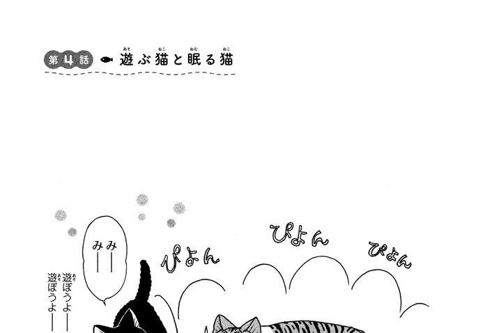 第4話 遊(あそ)ぶ猫(ねこ)と眠(ねむ)る猫(ねこ)